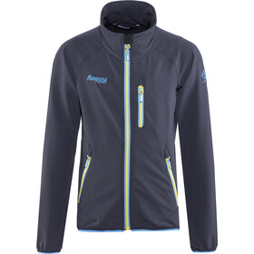 Bergans Kjerag Jacket Barn navy/light winter sky/yellowgreen